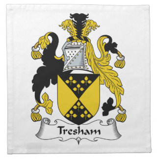Escudo de la familia de Tresham Servilletas De Papel