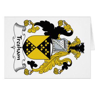 Escudo de la familia de Tresham Tarjeta De Felicitación