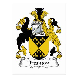 Escudo de la familia de Tresham Tarjetas Postales