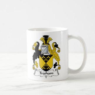 Escudo de la familia de Tresham Taza Básica Blanca