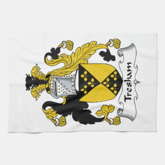 Escudo de la familia de Tresham Toallas De Cocina