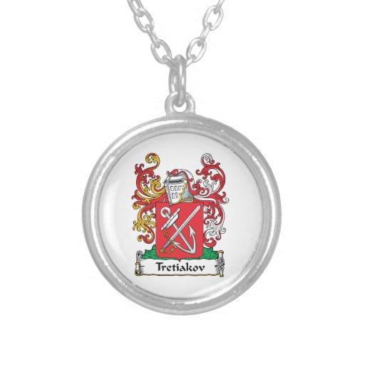 Escudo de la familia de Tretiakov Colgante Personalizado