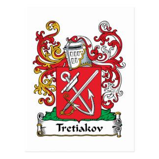 Escudo de la familia de Tretiakov Tarjetas Postales