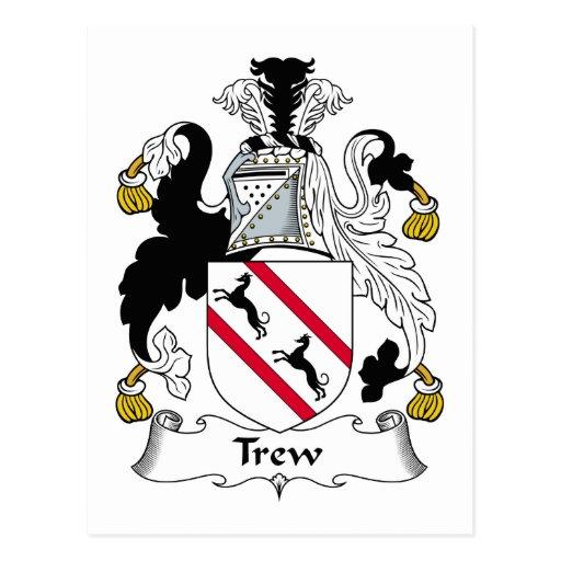 Escudo de la familia de Trew Postales