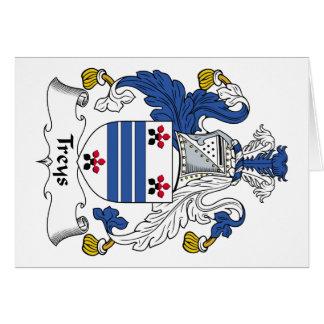Escudo de la familia de Treys Felicitación