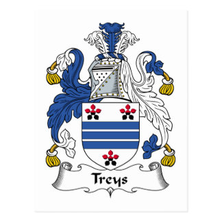 Escudo de la familia de Treys Tarjetas Postales