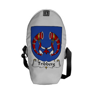 Escudo de la familia de Tribberg Bolsa De Mensajeria
