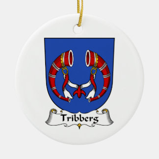 Escudo de la familia de Tribberg Ornamento De Navidad