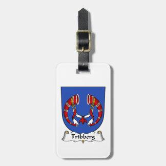 Escudo de la familia de Tribberg Etiquetas De Equipaje