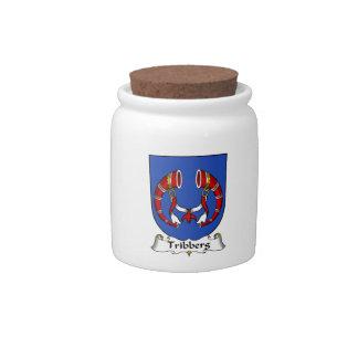 Escudo de la familia de Tribberg Platos Para Caramelos