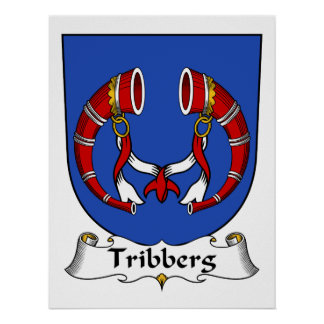 Escudo de la familia de Tribberg Posters