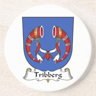 Escudo de la familia de Tribberg Posavasos Cerveza