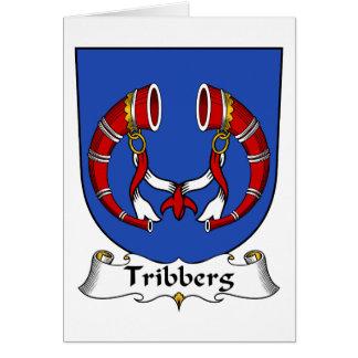 Escudo de la familia de Tribberg Tarjeta De Felicitación