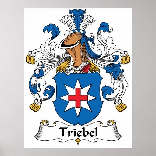Escudo de la familia de Triebel Poster