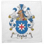Escudo de la familia de Triebel Servilletas