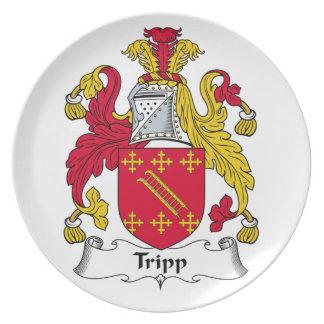 Escudo de la familia de Tripp Plato Para Fiesta