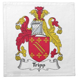 Escudo de la familia de Tripp Servilletas De Papel