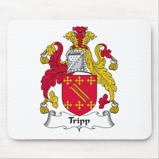 Escudo de la familia de Tripp Tapetes De Ratones