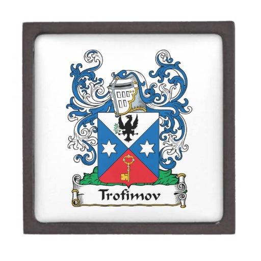 Escudo de la familia de Trofimov Caja De Regalo De Calidad