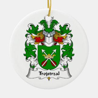 Escudo de la familia de Trojstrzal Adorno Redondo De Cerámica