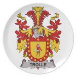 Escudo de la familia de Trolle Plato De Cena