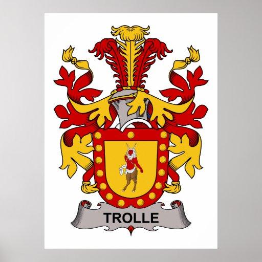 Escudo de la familia de Trolle Póster