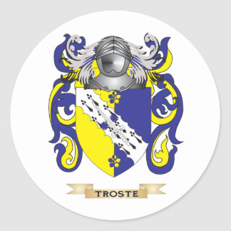 Escudo de la familia de Troste (escudo de armas) Etiquetas Redondas