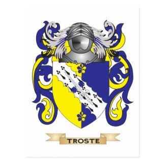 Escudo de la familia de Troste (escudo de armas) Tarjeta Postal