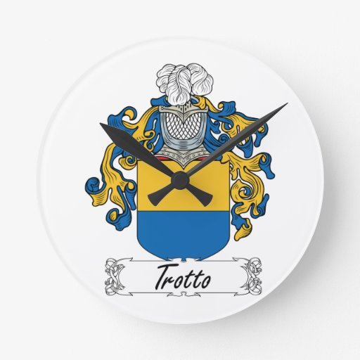 Escudo de la familia de Trotti Relojes De Pared