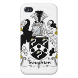 Escudo de la familia de Troughton iPhone 4 Carcasas