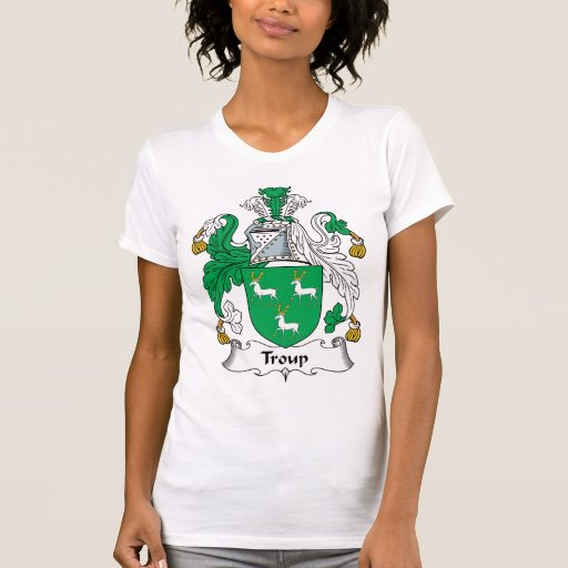 Escudo de la familia de Troup Camiseta