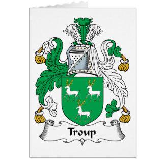 Escudo de la familia de Troup Tarjeta De Felicitación