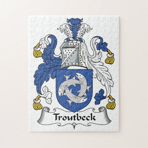 Escudo de la familia de Troutbeck Puzzle