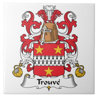 Escudo de la familia de Trouve Azulejo Cuadrado Grande