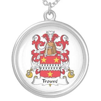 Escudo de la familia de Trouve Colgante Redondo