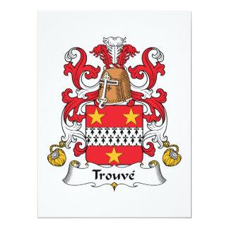 """Escudo de la familia de Trouve Invitación 6.5"""" X 8.75"""""""