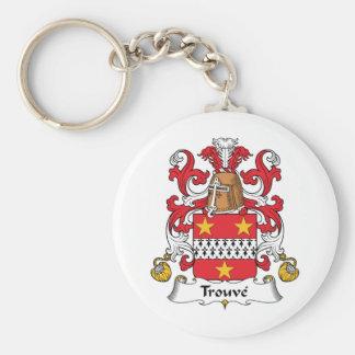 Escudo de la familia de Trouve Llavero Redondo Tipo Pin