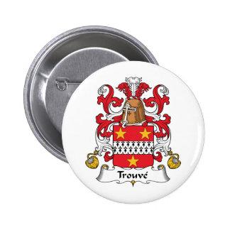 Escudo de la familia de Trouve Pin Redondo 5 Cm