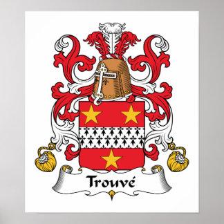 Escudo de la familia de Trouve Póster