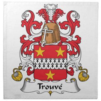 Escudo de la familia de Trouve Servilleta De Papel