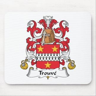 Escudo de la familia de Trouve Alfombrilla De Ratón