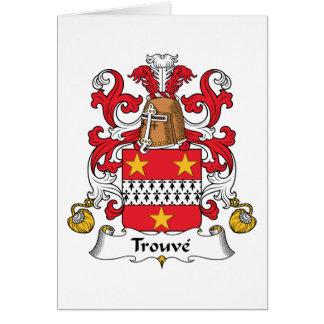 Escudo de la familia de Trouve Tarjeta De Felicitación