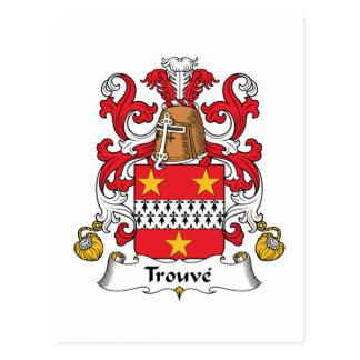 Escudo de la familia de Trouve Tarjetas Postales