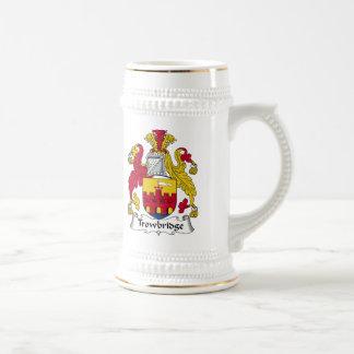 Escudo de la familia de Trowbridge Jarra De Cerveza