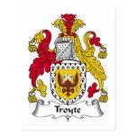 Escudo de la familia de Troyte Tarjetas Postales