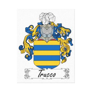 Escudo de la familia de Trucco Impresión En Lona