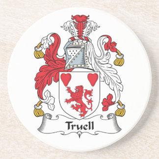 Escudo de la familia de Truell Posavasos Manualidades