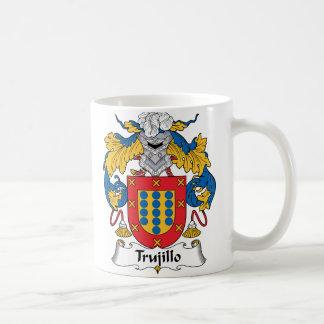 Escudo de la familia de Trujillo Taza Básica Blanca
