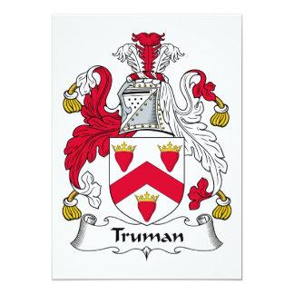 Escudo de la familia de Truman Invitacion Personal