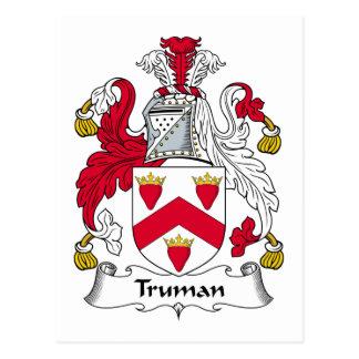 Escudo de la familia de Truman Tarjeta Postal